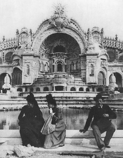 Le Chateau D'Eau. Illustration for A Paris vers 1900 by Louis Cheronnet (Chroniques du Jour, 1932).