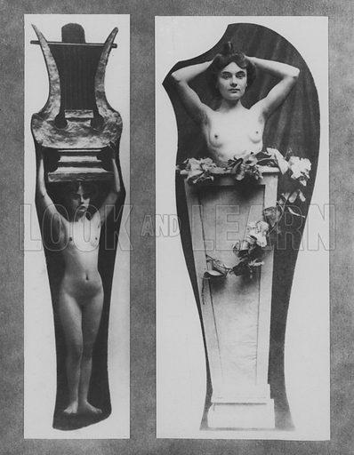 Models. Illustration for A Paris vers 1900 by Louis Cheronnet (Chroniques du Jour, 1932).