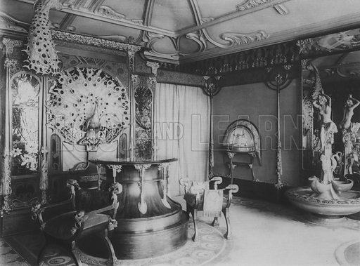 The Shop of Fouquet the Jeweler in 1900. Illustration for A Paris vers 1900 by Louis Cheronnet (Chroniques du Jour, 1932).