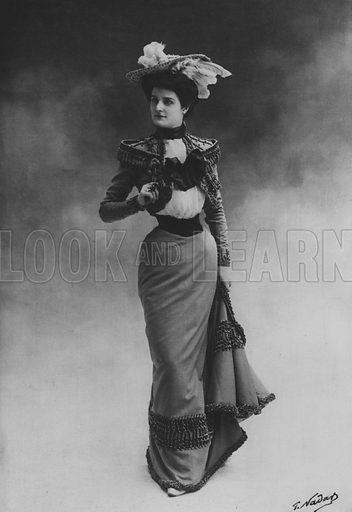 Mademoiselle Dortzal. Illustration for A Paris vers 1900 by Louis Cheronnet (Chroniques du Jour, 1932).