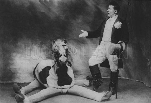 Footit and his Horse. Illustration for A Paris vers 1900 by Louis Cheronnet (Chroniques du Jour, 1932).