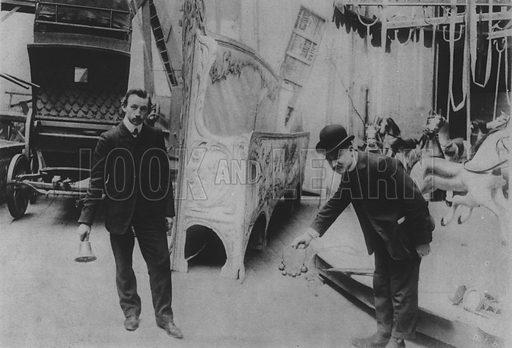 Noises Off-Stage. Illustration for A Paris vers 1900 by Louis Cheronnet (Chroniques du Jour, 1932).