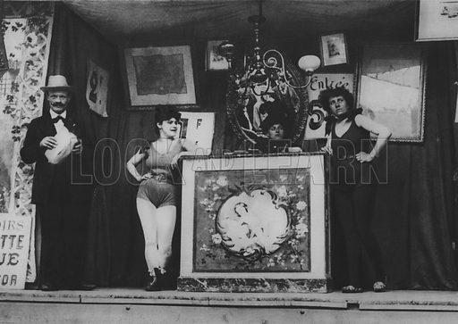 La Fete a Neuilly. Illustration for A Paris vers 1900 by Louis Cheronnet (Chroniques du Jour, 1932).