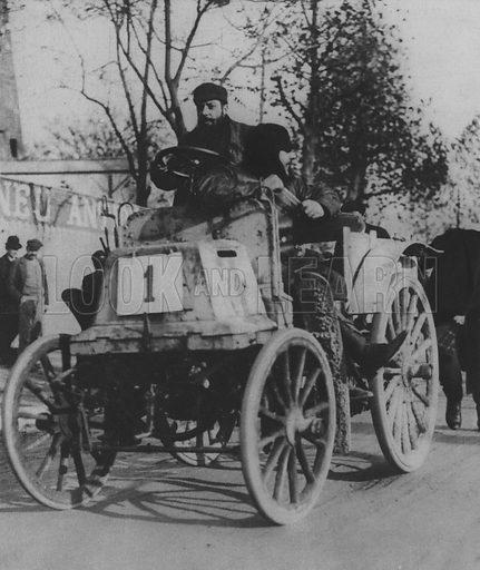 Pioneers of the Motor Car. Illustration for A Paris vers 1900 by Louis Cheronnet (Chroniques du Jour, 1932).