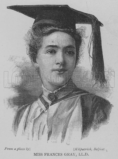 Miss Frances Gray, LLD Illustration for The Picture Magazine, 1893.