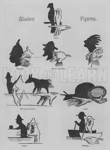Shadow Figures. Illustration for The Picture Magazine, 1893.