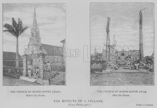 The Effects of a Cyclone. Illustration for The Picture Magazine, 1893.