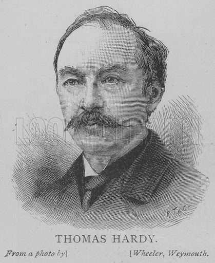 Thomas Hardy. Illustration for The Picture Magazine, 1893.