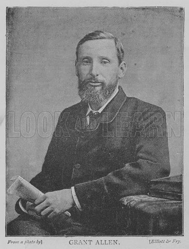 Grant Allen. Illustration for The Picture Magazine, 1893.