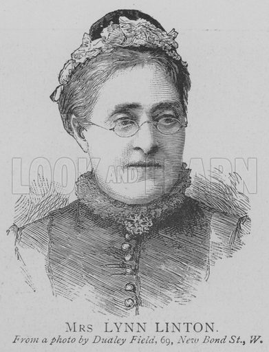 Mrs Lynn Linton. Illustration for The Picture Magazine, 1893.
