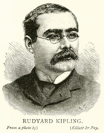 Rudyard Kipling. Illustration for The Picture Magazine, 1893.