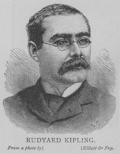 Rudyard Kipling. Illustration for The Picture Magazine, 1893.