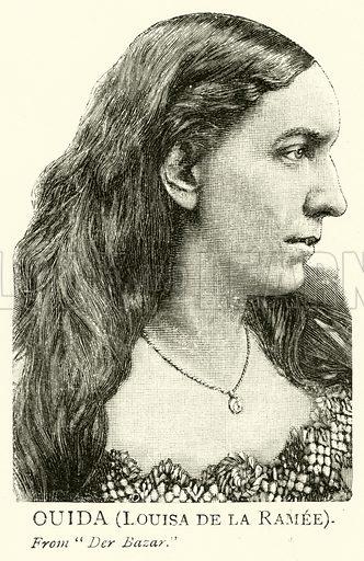 Ouida, Louisa de la Ramee. Illustration for The Picture Magazine, 1893.