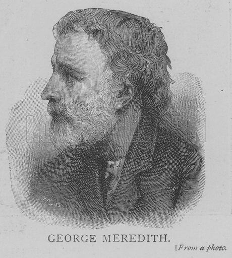 George Meredith. Illustration for The Picture Magazine, 1893.