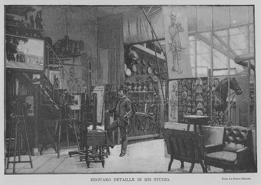 Edouard Detaille in his Studio. Illustration for The Picture Magazine, 1893.