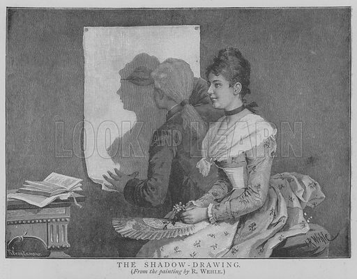 The Shadow-Drawing. Illustration for The Picture Magazine, 1893.