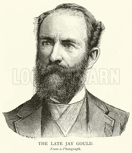 The Late Jay Gould. Illustration for The Picture Magazine, 1893.