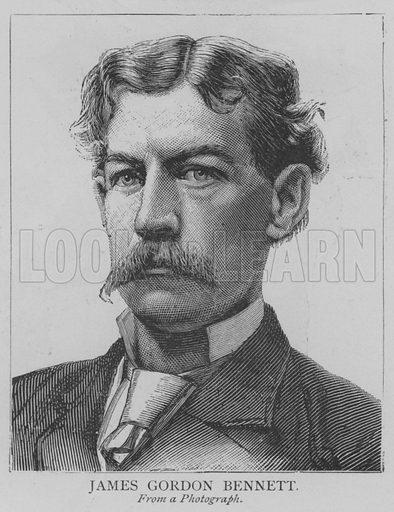 James Gordon Bennett. Illustration for The Picture Magazine, 1893.