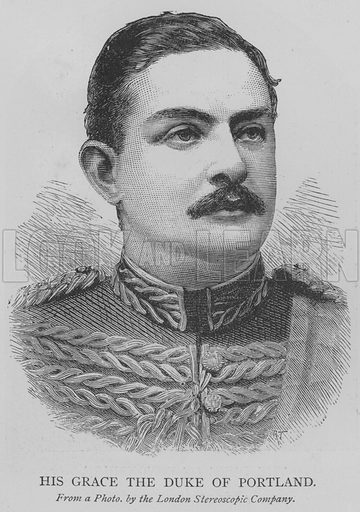 His Grace the Duke of Portland. Illustration for The Picture Magazine, 1893.