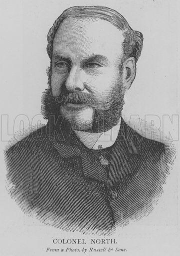 Colonel North. Illustration for The Picture Magazine, 1893.