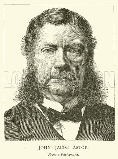 John Jacob Astor. Illustration for The Picture Magazine, 1893.
