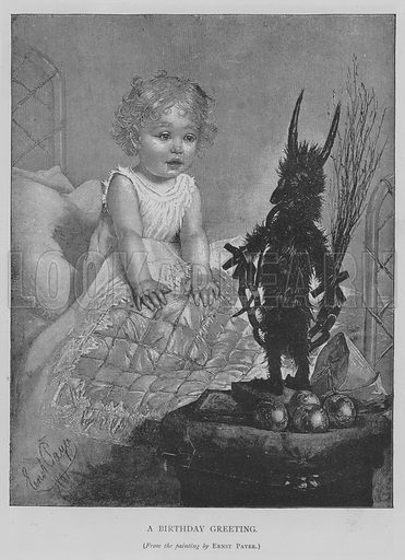 A Birthday Greeting. Illustration for The Picture Magazine, 1893.