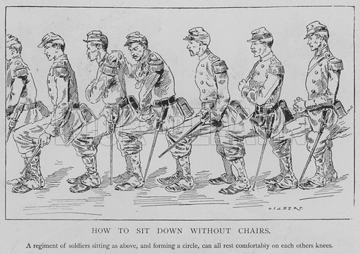 How to Sit Down without Chairs. Illustration for The Picture Magazine, 1893.