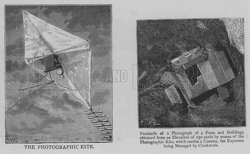 The Photographic Kite. Illustration for The Picture Magazine, 1893.