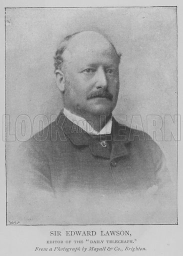 """Sir Edward Lawson, Editor of the """"Daily Telegraph"""". Illustration for The Picture Magazine, 1893."""