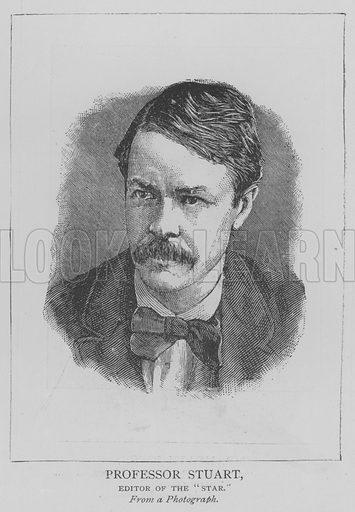 "Professor Stuart, Editor of the ""Star"". Illustration for The Picture Magazine, 1893."