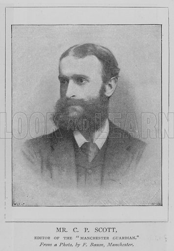"""Mr CP Scott, Editor of the """"Manchester Guardian"""". Illustration for The Picture Magazine, 1893."""