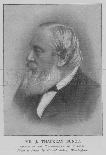 "Mr J Thackray Bunce, Editor of the ""Birmingham Daily Post"". Illustration for The Picture Magazine, 1893."