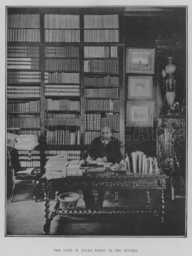 The Late M Jules Ferry in his Studio. Illustration for The Picture Magazine, 1893.