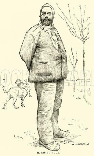 M Emile Zola. Illustration for The Picture Magazine, 1893.