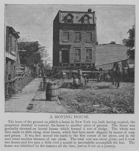 A Moving House. Illustration for The Picture Magazine, 1893.