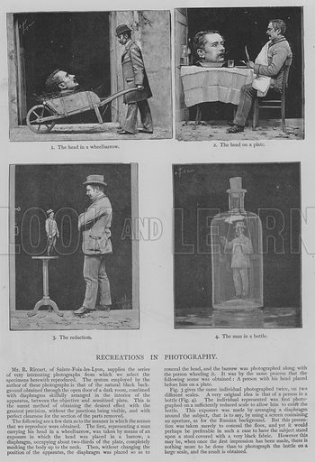 Recreations in Photography. Illustration for The Picture Magazine, 1893.