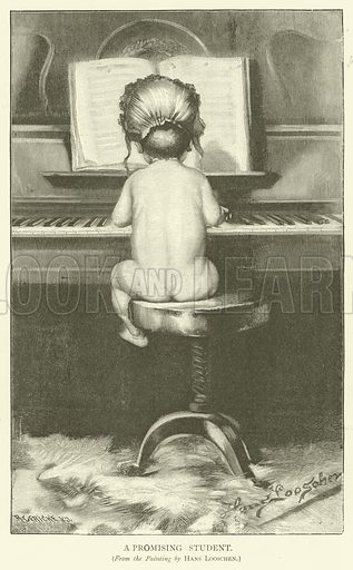 A Promising Student. Illustration for The Picture Magazine, 1893.