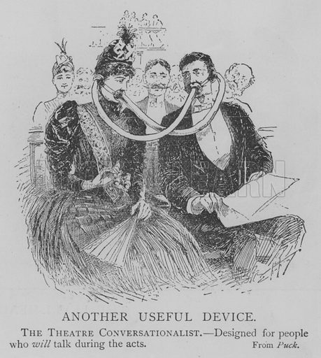 Another Useful Device. Illustration for The Picture Magazine, 1893.