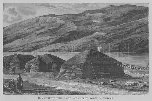 Hammerfest, the Most Northerly Town in Europe. Illustration for The Picture Magazine, 1893.