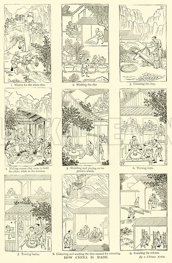 How China is Made. Illustration for The Picture Magazine, 1893.