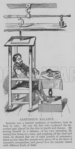 Santorio's Balance. Illustration for The Picture Magazine, 1893.