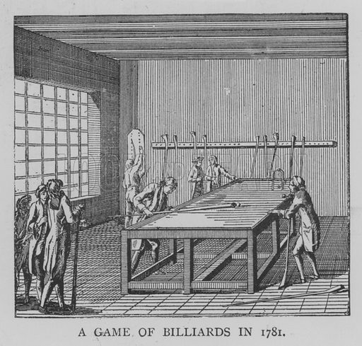 A Game of Billiards in 1781. Illustration for The Picture Magazine, 1893.