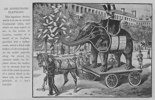 An Advertising Elephant. Illustration for The Picture Magazine, 1893.