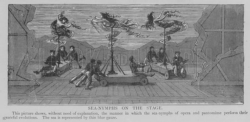 Sea-Nymphs on the Stage. Illustration for The Picture Magazine, 1893.