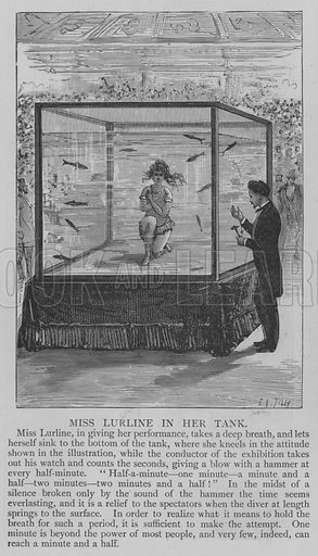 Miss Lurline in her Tank. Illustration for The Picture Magazine, 1893.
