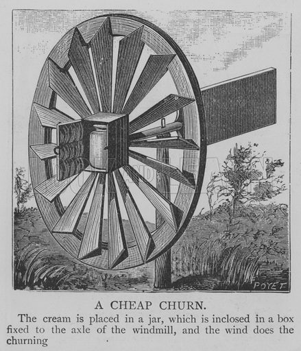 A Cheap Churn. Illustration for The Picture Magazine, 1893.