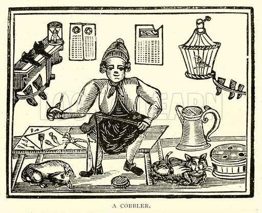 A Cobbler. Illustration for The Picture Magazine, 1894.