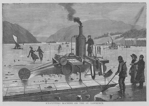 Ice-Cutting Machine on the St Lawrence. Illustration for The Picture Magazine, 1894.