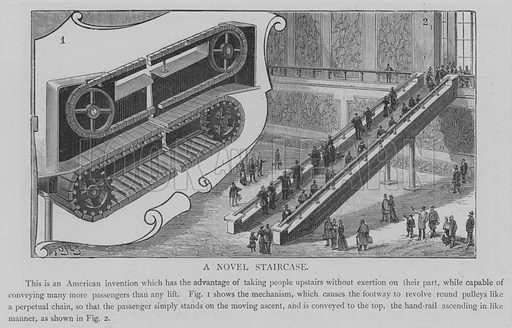 A Novel Staircase. Illustration for The Picture Magazine, 1894.