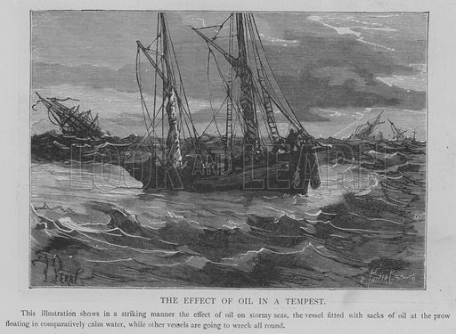 The Effect of Oil in a Tempest. Illustration for The Picture Magazine, 1894.